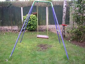 Mothercare Childrens Garden Swing frame and made wooden seat
