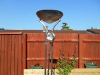 Mother and child lamp with uplighter and spot Chrome finish
