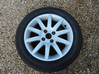 205/55 R16 Continental Tyre on a Peugeot Alloy wheel