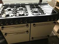 Rangemanster cream gas cooker and electric ovens 110cm