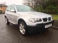 BMW X3 2.0 DIESEL SPORT , 6 SPEED , MOT JAN 2019 , 4X4 , LEATHER TRIM ,