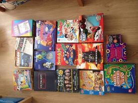 17 BOARD GAMES IN GOOD CONDITION - MUST GO (some unopened)