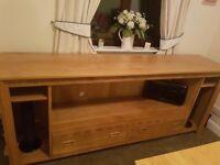 Solid oak tv cabinet / side unit (handmade, individual design).