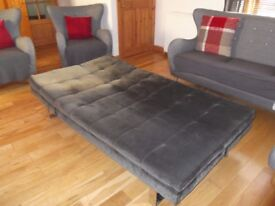 Sofa bed for sale. Only one year old, look like a new. Material: 100% Polyester