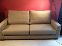 Sofa Library custom-made beige sofa, v good condition oiro £450 (£2500 new)