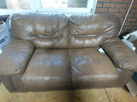 FREE - Comfy Brown leather look sofa Collection only