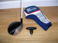 CALLAWAY BIG BERTHA DRIVER - 10.5 DEGREE - ADJUSTABLE HEAD /PERIMETER WEIGHTING - ORIGINAL HEADCOVER