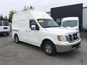 2012 Nissan NV 2500  High Roof with shelving and ladder rack