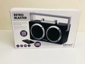RETRO BLASTER PORTABLE BLUETOOTH SPEAKER NEW SEALED