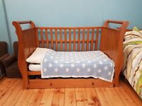 Vib Sleigh cotbed / cot bed for sale £150 ono