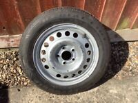 """GM VAUXHALL 15"""" WHEEL WITH NEW TYRE"""