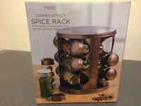 next copper effect spice rack with spices included