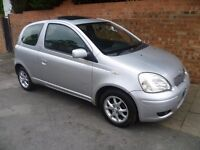 TOYOTA YARIS 2003 REG WITH A FULL MOT, VERY LOW MILEAGE ONLY 55,000 MILES TOP SPEC ALLOYS & AIR CON
