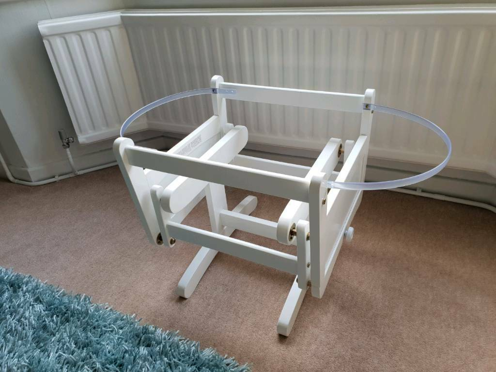 Gliding Crib Moses Basket Bassinet Carry Cot Stand Like New In Cyncoed Cardiff Gumtree