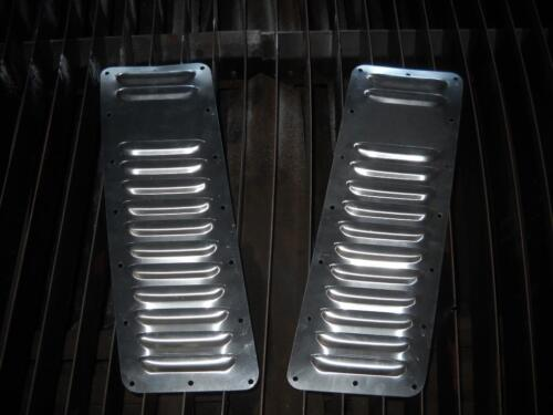 "Willys CJ5 Pair of 5/"" Louvered Panels Hood louvers Bolt-on style Vent Kit New"