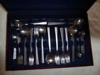 58 piece (8 services) Canteen of Stainless Cutlery by Viners - Studio - enhanced