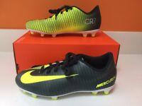 Nike Mercurial Vortex 3 CR7 Ronaldo FG Junior Kids Firm Ground Football boots Size 4.5 UK
