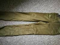 Been worn once Forest Green Designer Etcetera trousers US size 00