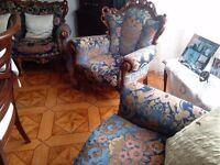 SOFAS, 3 PIECES SUITE, Victorian Stile, origin Italy