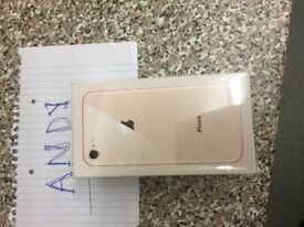IPHONE 8 64GB GOLD UNLOCKED SEALED 2 YEARS WARRANTY