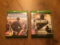 Xbox One games Watchdogs 2 & Call of Duty Infinite Warfare