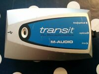 M-Audio TRANSIT USB audio interface soundcard 24bit 96kHz ASIO 2in 2 out digital s/pdif mini DAC