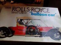 Rolls Royce silver ghost balloon car.