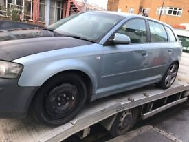 05 AUDI A3 2.0 FSI FOR BREAKING FOR ANY PARTS CALL ON