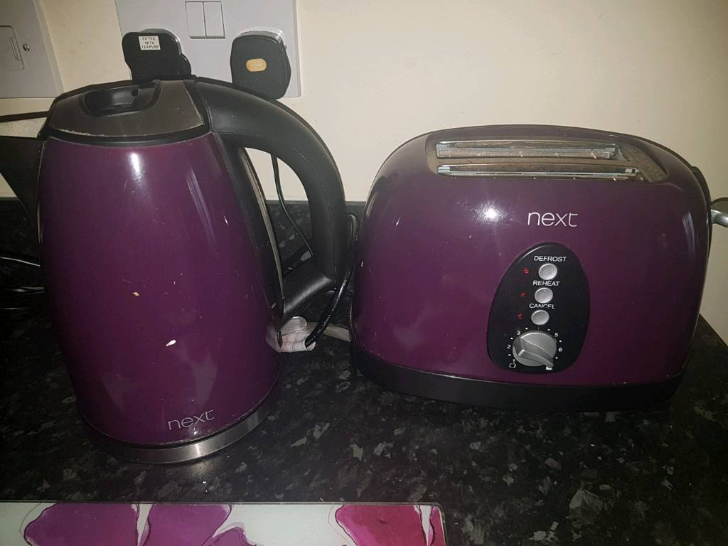 Next kettle & toaster set
