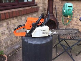 STIHL MS210 chainsaw 15 inch bar and recent chain