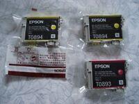 Three New EPSON Ink Cartridges.