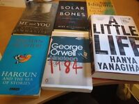 Bundle of books, new fiction for sale McCormack, Ishiguro, Rushdie, Orwell, Yanagihara, Ammaniti
