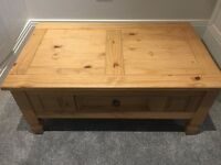 Solid pine coffee table in good condition