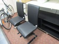 set of 2 designer leather office chairs