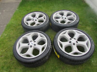 "ford focus st mondeo transit connect 18"" alloy wheels brand new"