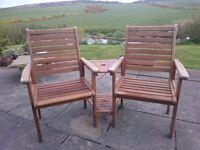 Garden seats companion set