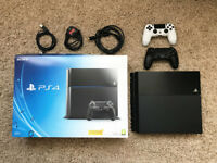 Sony PS4, boxed with 5 games and extra Sony controller