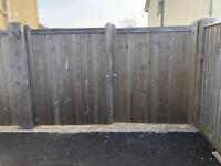 Double solid wooden gates 10 foot total size SSTC