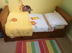 Nursery bedding, curtain and rug - Next