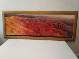 Red rock canyon photo in solid wood frame 100cm wide central London