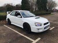 Subaru Impreza white wrx turbo 2.0 hpi clear 12 months mot any trial welcome standard car