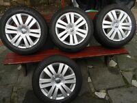 Alloy rims with tires 205/55/16 VW Passat B6 Turan GOLF .7J/16 H2 ET45