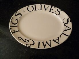 Emma Bridgewater rare and unused Salami, Figs and Olives Platter