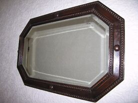 ARTS AND CRAFTS BEVELED ANTIQUE MIRROR