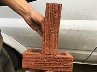 Tyrone 65mm Cowan Red Ripple Bricks - 160 bricks - sold at Jewsons
