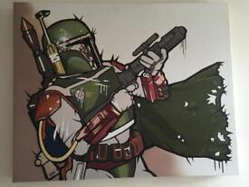 Boba fett Star Wars art Jedi force solo rare