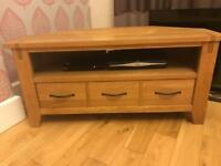Next wooden tv stand with drawer