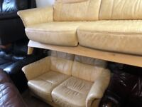 Exgillies quality second hand leather suites