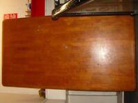 Large Solid Wood Hardwood Dining Table. Light Restoration