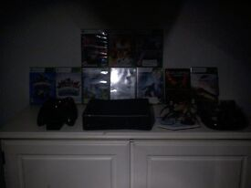 Xbox 360 slim 11 games two pads steering wheel all leads good working order holmfirth